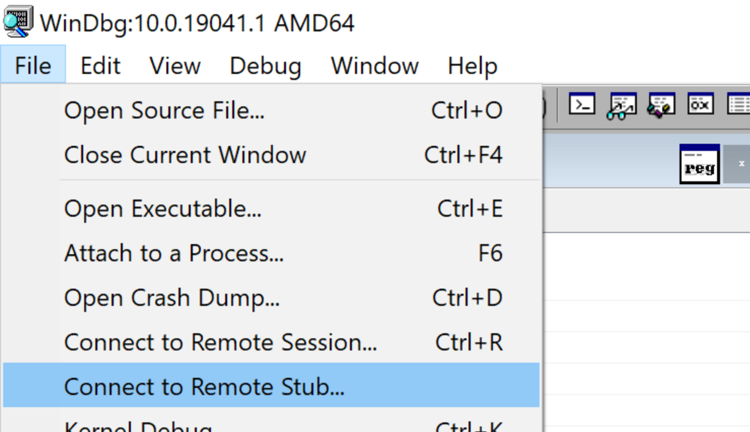 Connect to remote stub